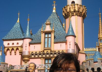 Bobblehead in front of Sleeping Beauty's Castle in Disneyland!